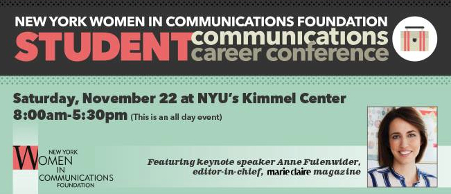 new york women in communications foundation career conference flyer