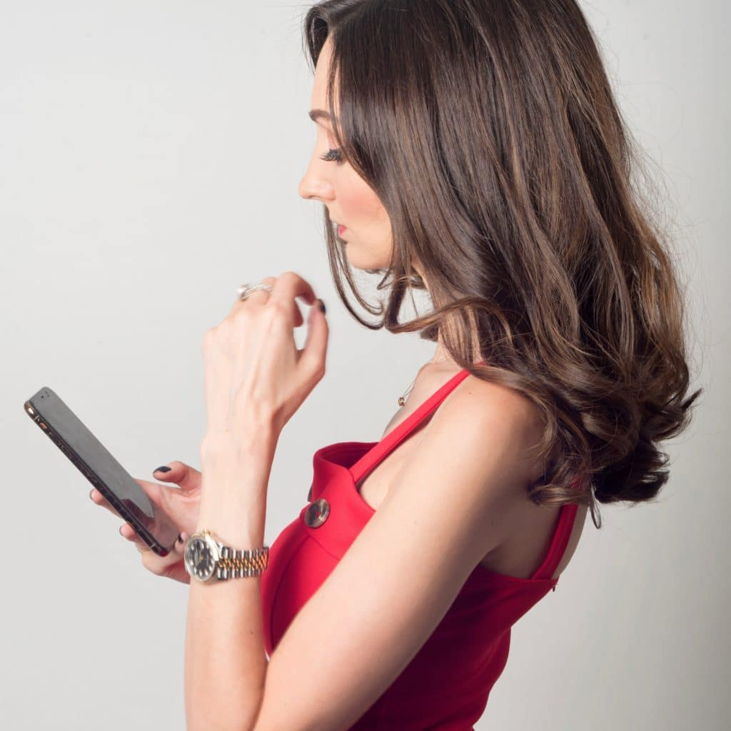 Kris Ruby Media Relations Pro on cell phone PR Insider Secrets